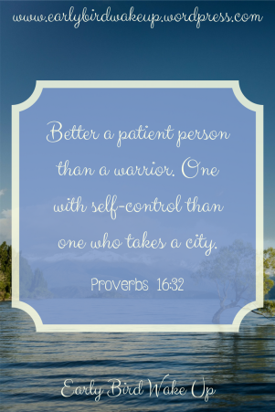 Better a patient person than a warrior. One with self-control than one who takes a city.